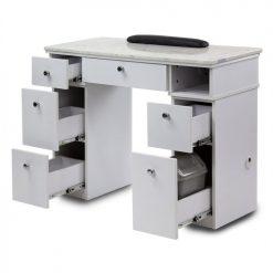 White Sonoma Manicure Table