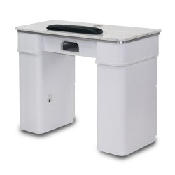 White Sonoma Manicure Table with Exhaust - a2