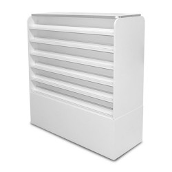 White Sonoma Polish & Powder Rack with Cabinets - a2