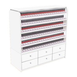 White Sonoma Polish & Powder Rack with Cabinets - a4