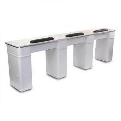 White Sonoma Triple Manicure Table