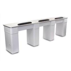 White Sonoma Triple Manicure Table - a2