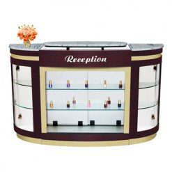 Advace Reception Counter – White Stone Marble