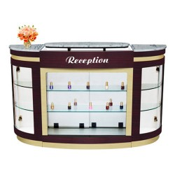 Advace Reception Counter – White Stone Marble - 1a
