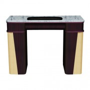 Classic Nail Table - White Stone Marble - 1a