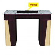 Classic Nail Table with Vent - White Stone Marble - 1a
