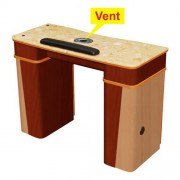 Classic Nail Table with Vent - Yellow Marble - 1a