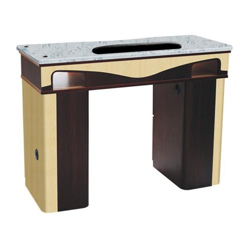 ITC J-10 Nail Table – White Stone Marble
