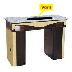 ITC J-10 Nail Table with Vent – White Stone Marble