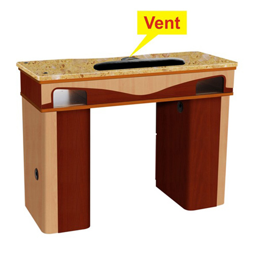 ITC J-10 Nail Table with Vent – Yellow Marble