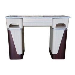 Nail Table T06G - White Stone Marble - 1