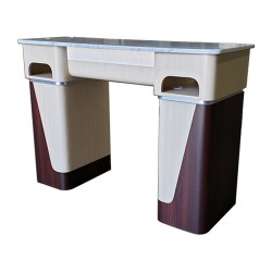 Nail Table T06G - White Stone Marble - 3a