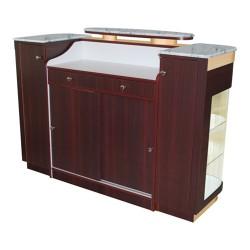 Reception Counter Roma – White Stone Marble - 2a