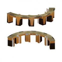 Custom Made Nail Bar Curved 5