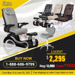 Promo Lucent Pedicure Spa Chair New