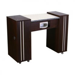 Adelle AUV Manicure Table Dark Cherry