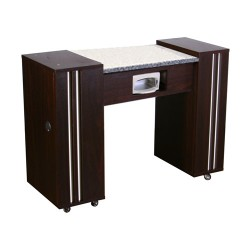 Adelle AUV Manicure Table Dark Cherry - 2b