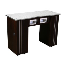 Adelle Manicure Table Dark Cherry BUV - 2