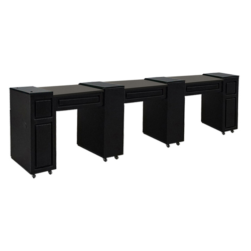 Canterbury Multi-Sections Manicure Table Black