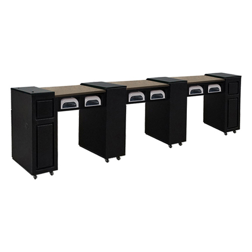 Canterbury Multi-Sections Manicure Table UV – Black