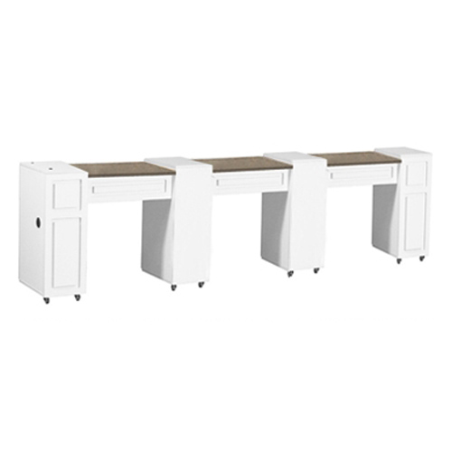 Canterbury Multi-Sections Manicure Table White