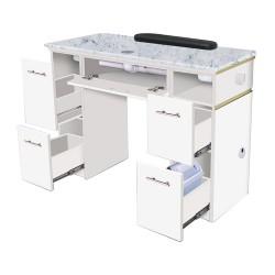 White Verona Manicure Table - 2