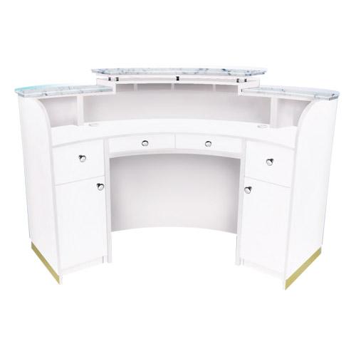 White Verona Reception Desk