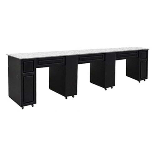 Canterbury Multi-Sections Manicure Table Full Top – Black