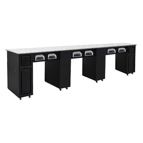 Canterbury Multi-Sections Manicure Table Full Top UV – Black