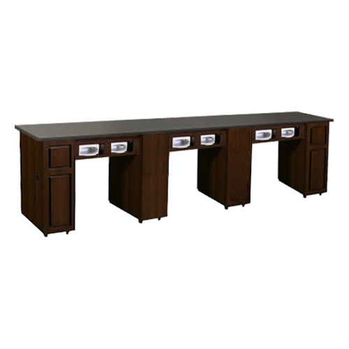 Canterbury Multi-Sections Manicure Table Full Top UV – Chocolate