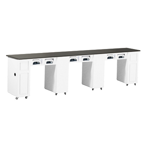 Canterbury Multi-Sections Manicure Table Full Top UV – White