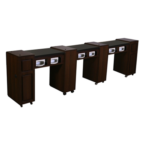 Canterbury Multi-Sections Manicure Table UV – Chocolate