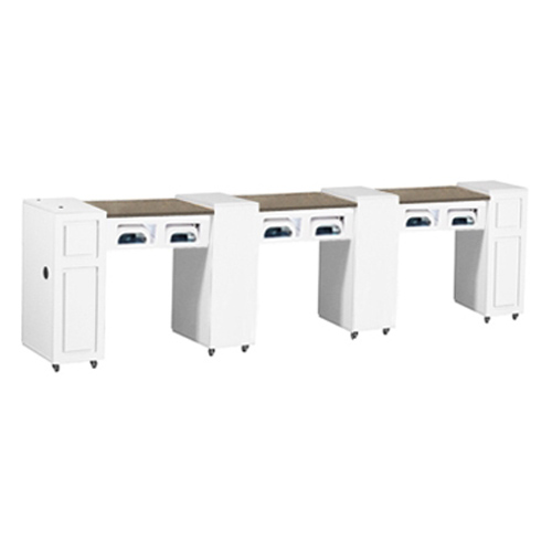 Canterbury Multi-Sections Manicure Table UV – White