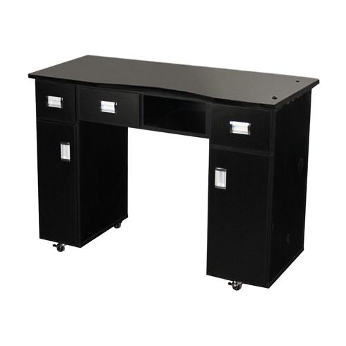 Le Beau Vented Manicure Table Black