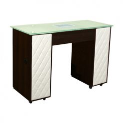 Le Beau Vented Manicure Table Chocolate