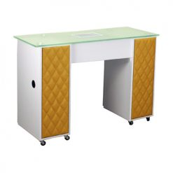 Le Beau Vented Manicure Table White