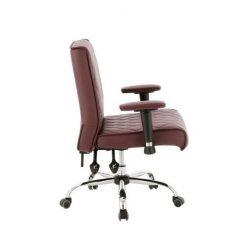 Delia Customer Chairs Burgundy Left