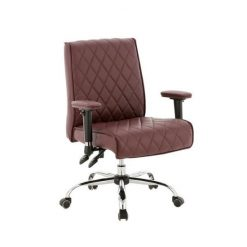 Delia Customer Chairs Burgundy Front