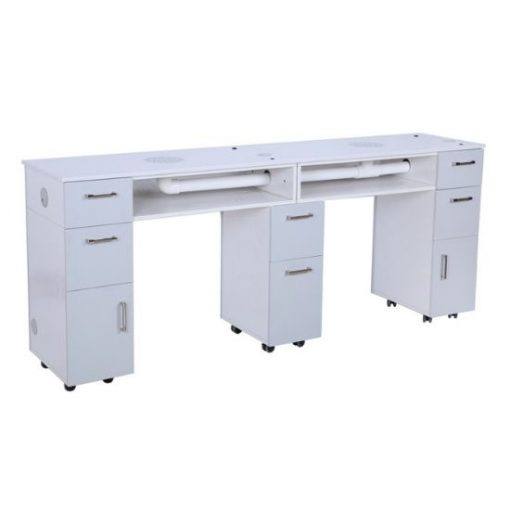 Milan Double Manicure Table With Vent Pipe