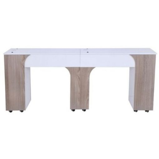 Milan Double Manicure Table