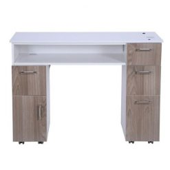 Milan Manicure Table Solid Back