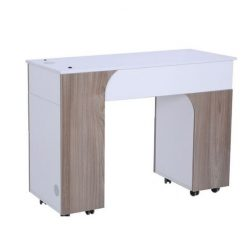 Milan Manicure Table Solid Front Left