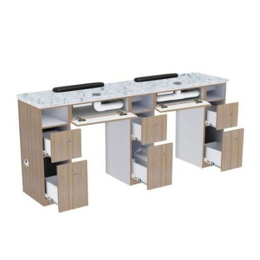 Nova II Double Nail Table With Exhaust