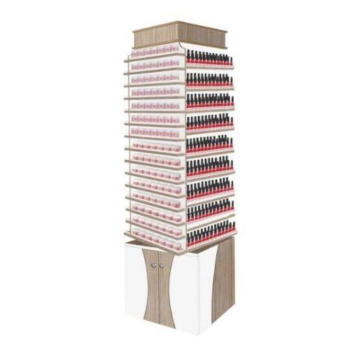 Nova II Polish & Powder Center with 360 Degree Swivel Double Shelves