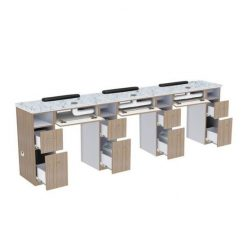 Nova Ii Triple Manicure Table With Exhaust Best Price