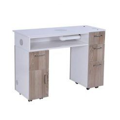 Milan Manicure Table With Vent Pipe Back