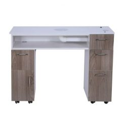Milan Manicure Table With Vent Pipe Back Side