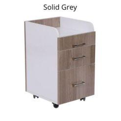 Milan Pedi Trolley Solid Grey Left