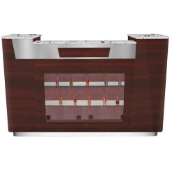 Avon I Reception Desk With Glass Display