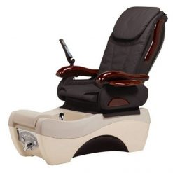 Chocolate 777 Spa Pedicure Chair Front